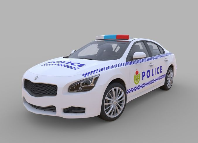 Generic police car3D model