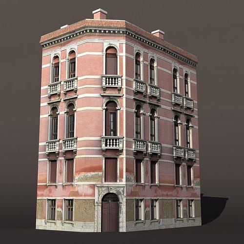 3d Model House Building Residential: Venice Building 147 3D Asset