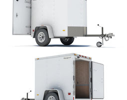 Cargo Trailer 04 3D Model