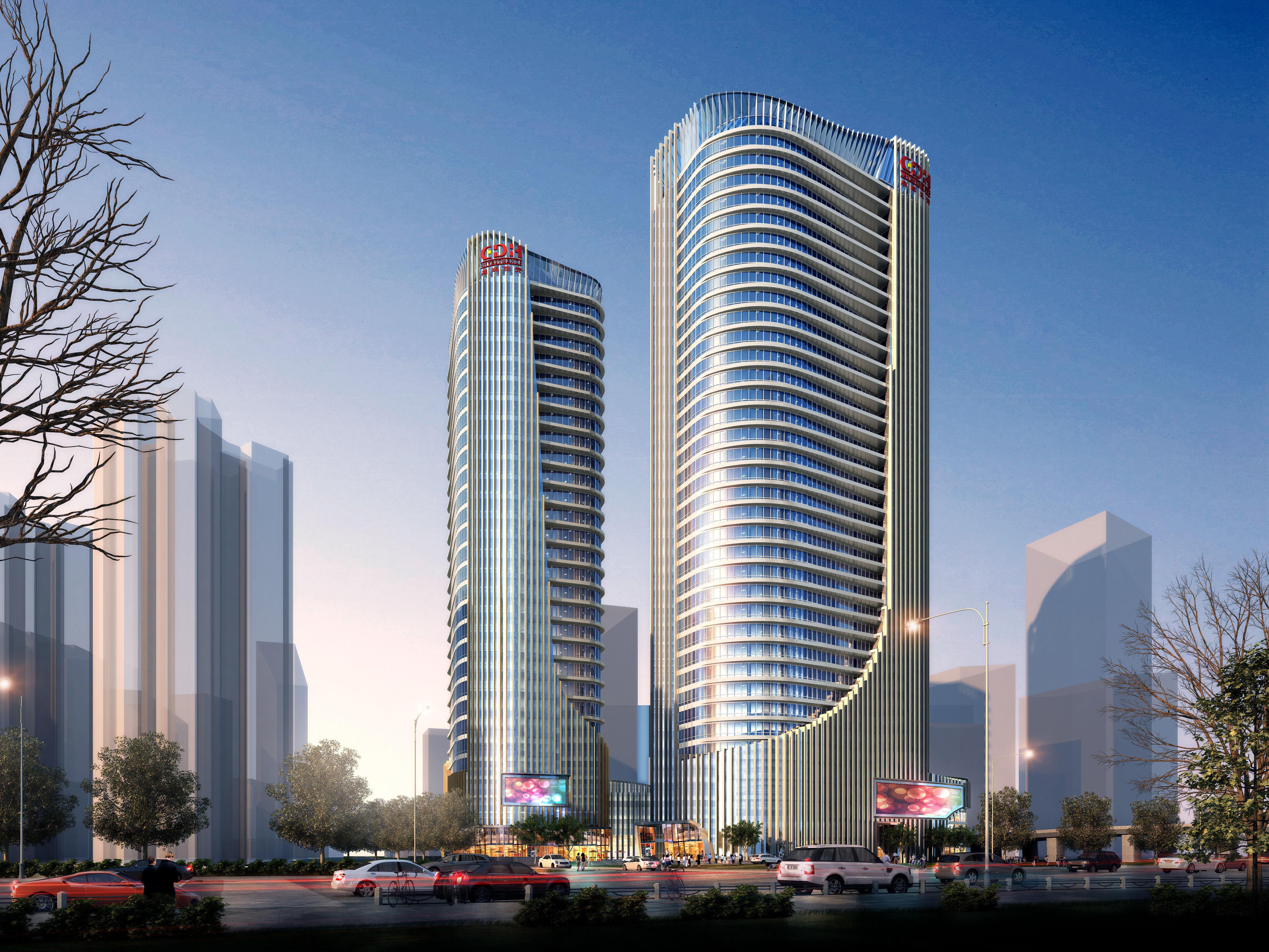 Skyscraper office building 020 3d model max for Construction 3d