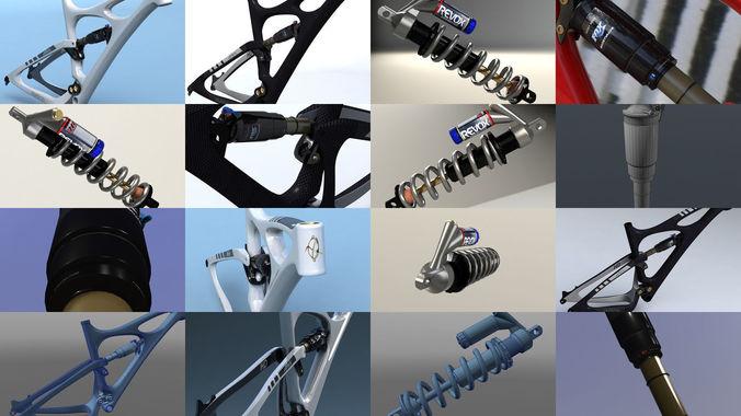 bicycle parts collection 3d model max obj mtl 3ds fbx c4d lwo lw lws 1