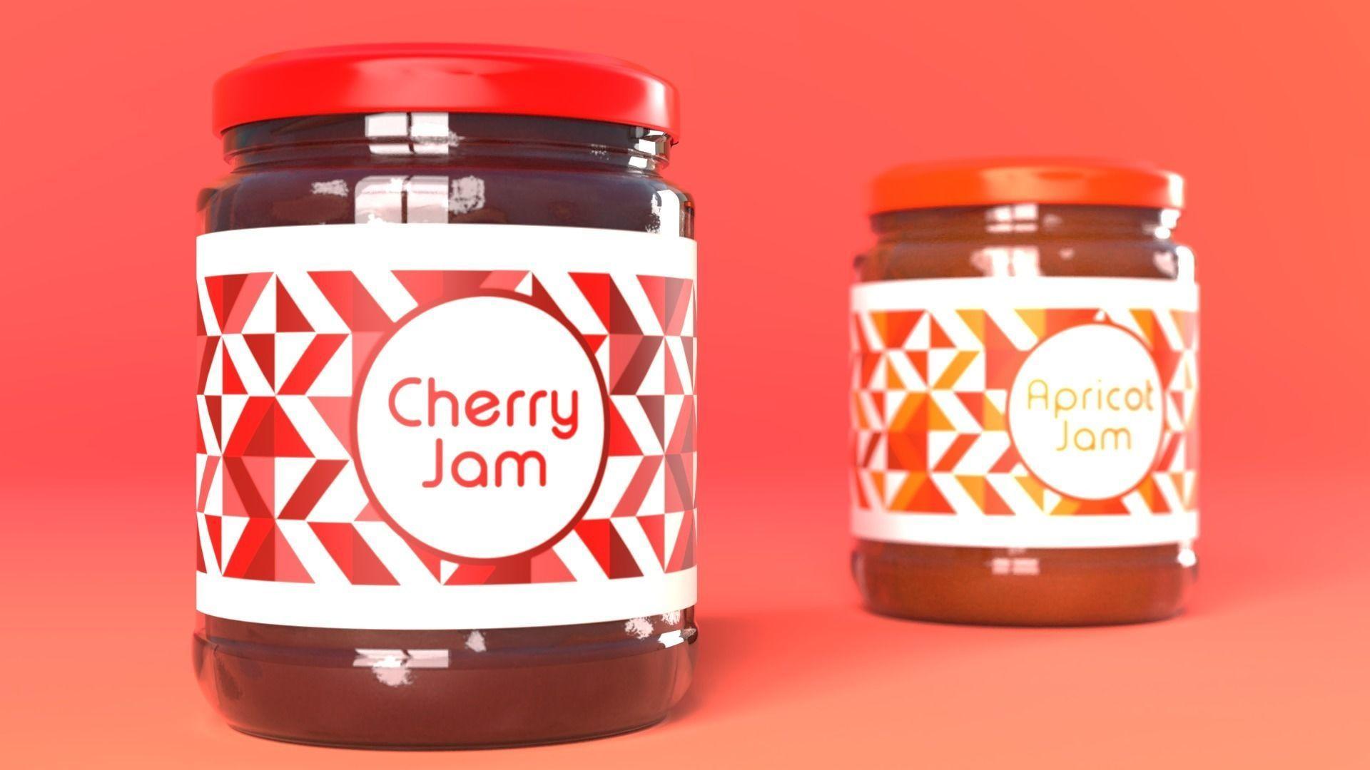 Jam Jar Apricot and Cherries