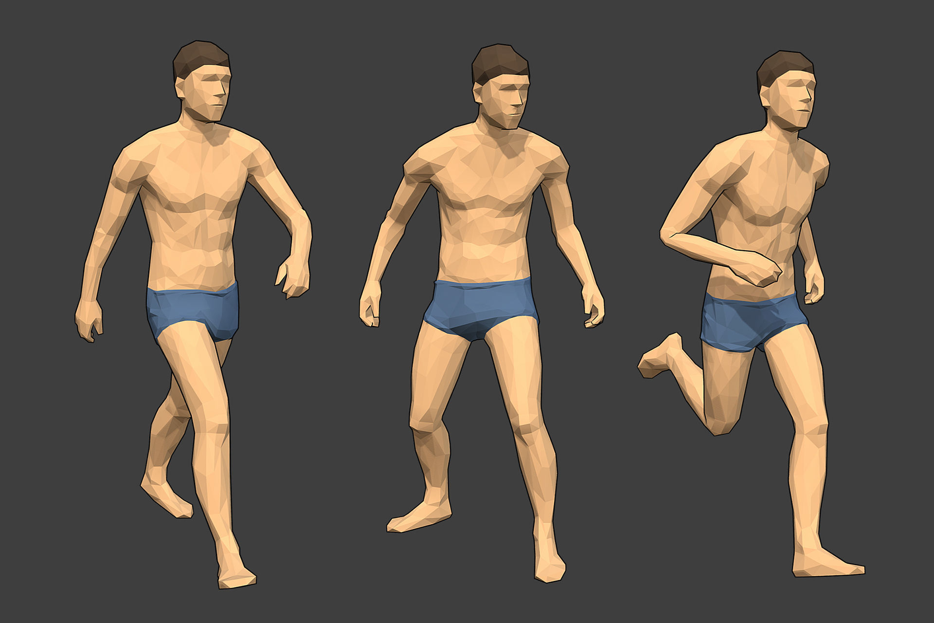 Rigged Lowpoly Male Character - Jim
