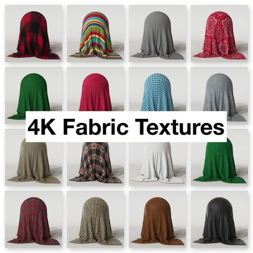 4k fabric textures pack 3d model  1