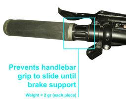 3d print model bicycle handlebar grip lock