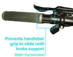 3D printable model Bicycle handlebar grip lock