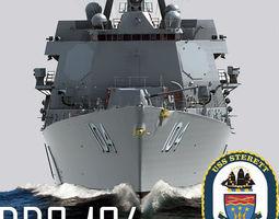 Arleigh Burke Class Destroyer Flight IIA DDG-104 3D
