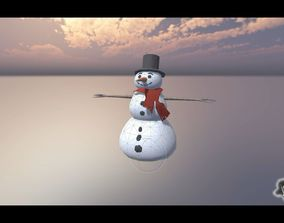 Snow Man 3D model animated