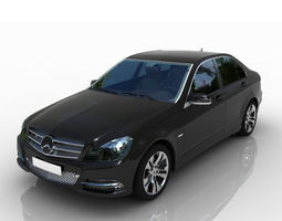 3D model Mercedes Benz C-Class 2012