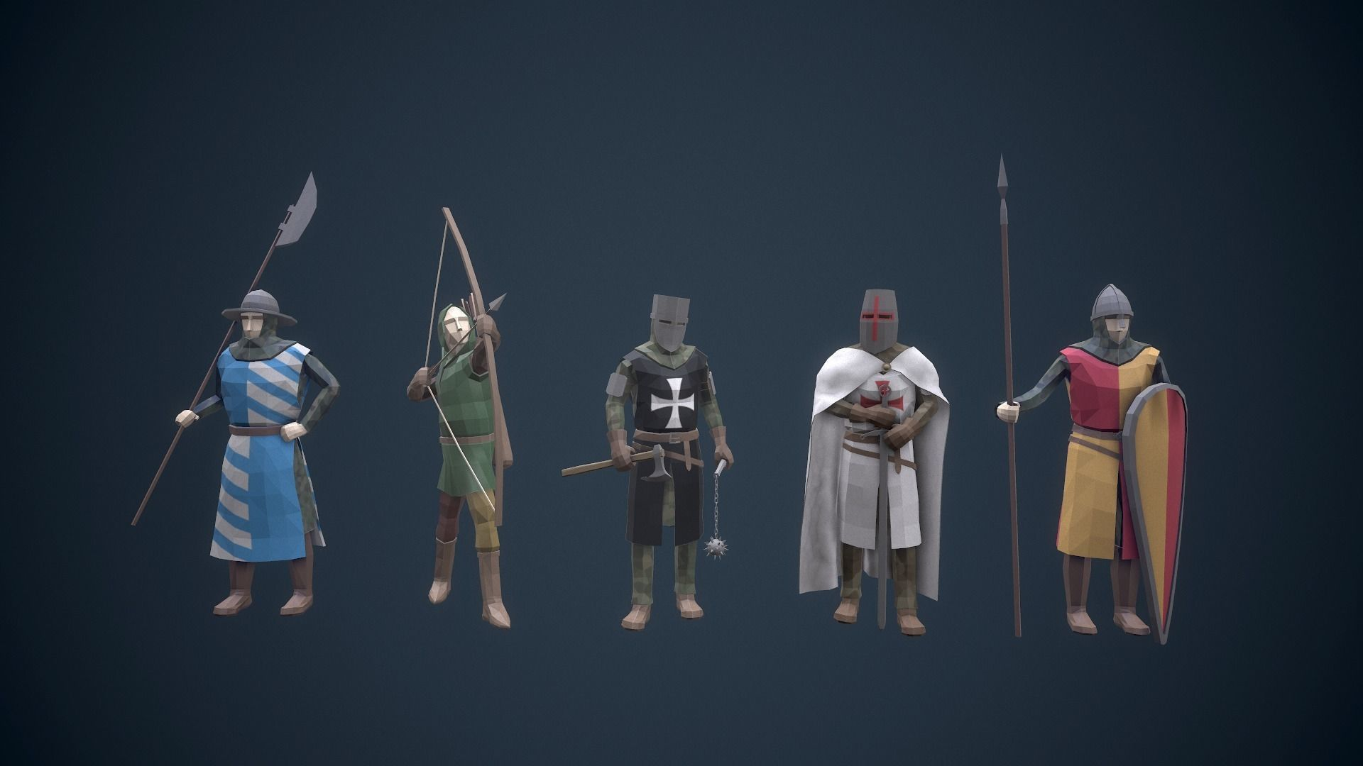 Stylized Medieval Characters
