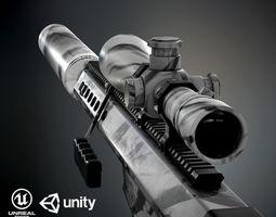 3D asset Barret M82A1 PBR
