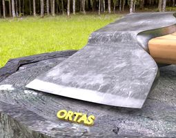 3D ORTAS AXE NO 3 HARD STEEL REALISTIC FOREST AXE
