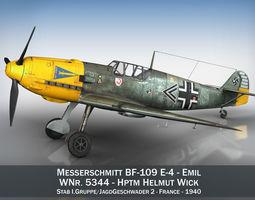 3D model Messerschmitt - BF-109 E - JG2
