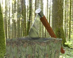 3D model ORTAS AXE NO 8 WAR AXE WITH LONG HANDLE