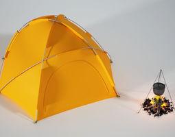camping 3D model Camping tent