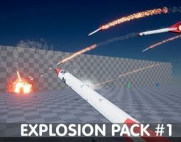 Explosion Pack 1 - Nature Elements - Unreal 3D model 1