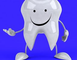 3D Fun tooth character