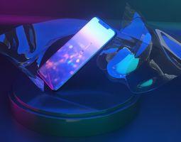 HUAWEI Mate 20 Pro 3D model screen