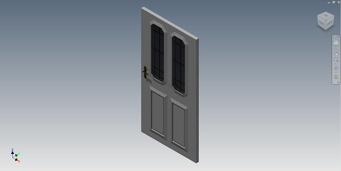 House door 3d model stl iam ipt for Door models for house