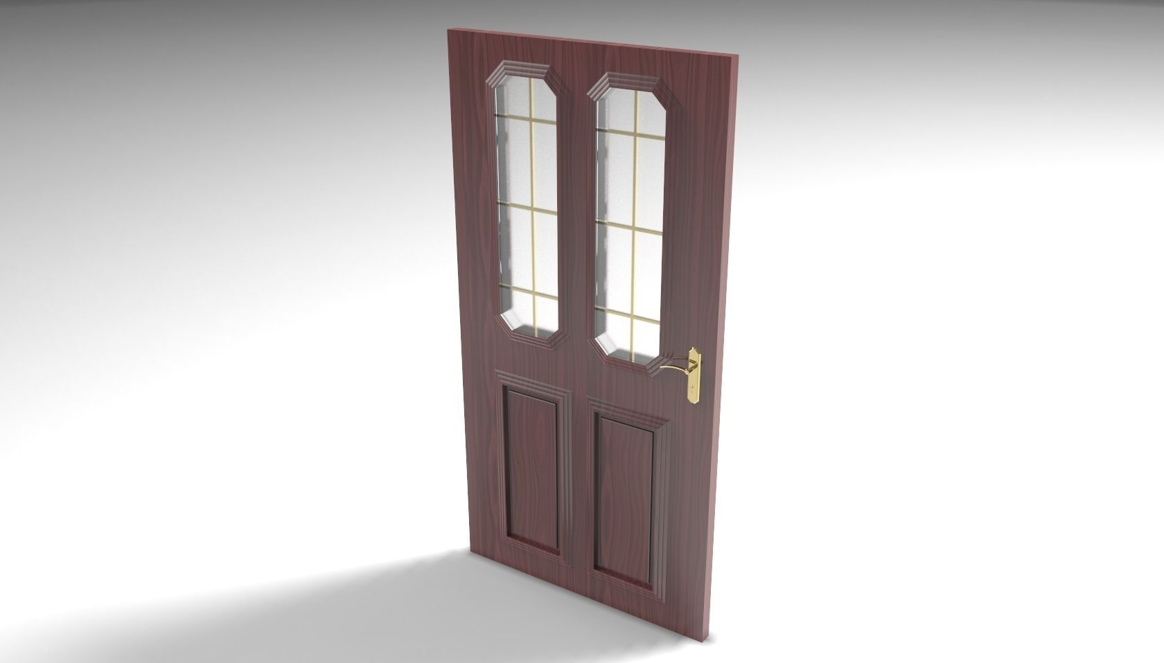 House door 3d model stl for Door models for house