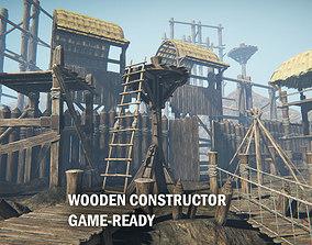 3D model Wooden constructor