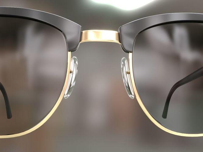 304093d68a ... rayban clubmaster glasses 3d model 3d model max obj mtl fbx 6 ...
