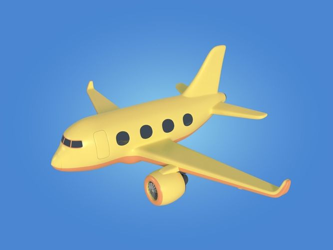 Cartoon Toy Airplane Plane 3d Asset Cgtrader