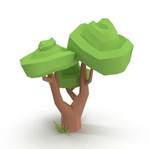 Cartoon Tree3D model