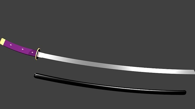 muramasa demon sword 3d model low-poly 3ds blend 1