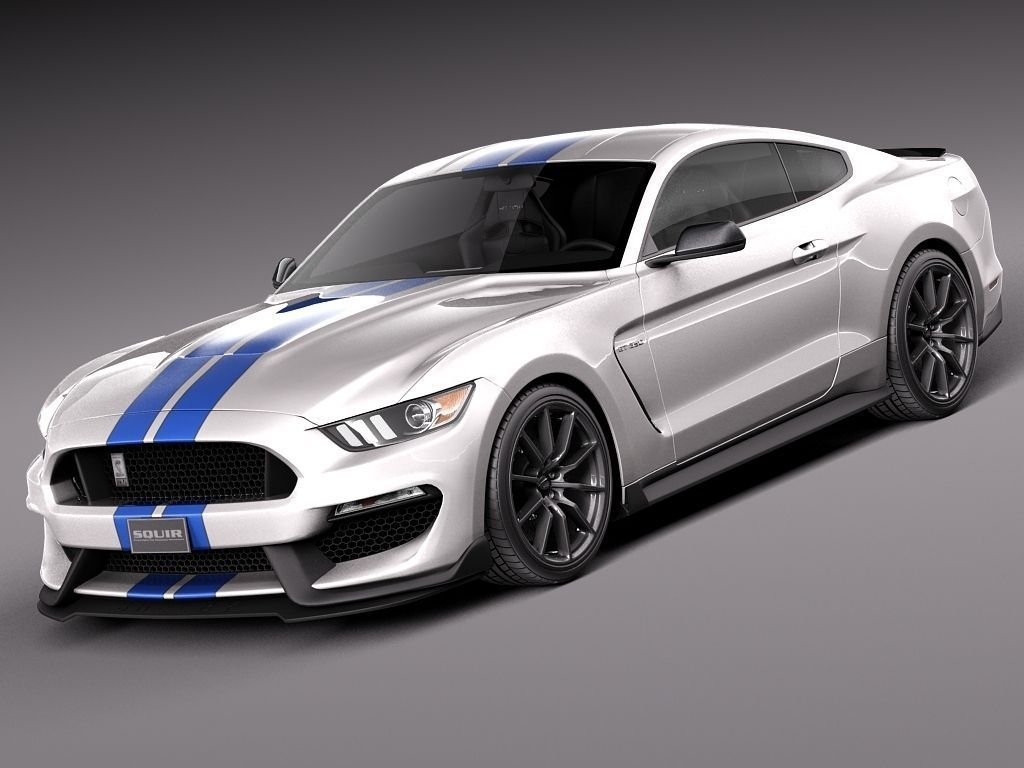 ford mustang gt350 shelby 2016 3d models. Black Bedroom Furniture Sets. Home Design Ideas