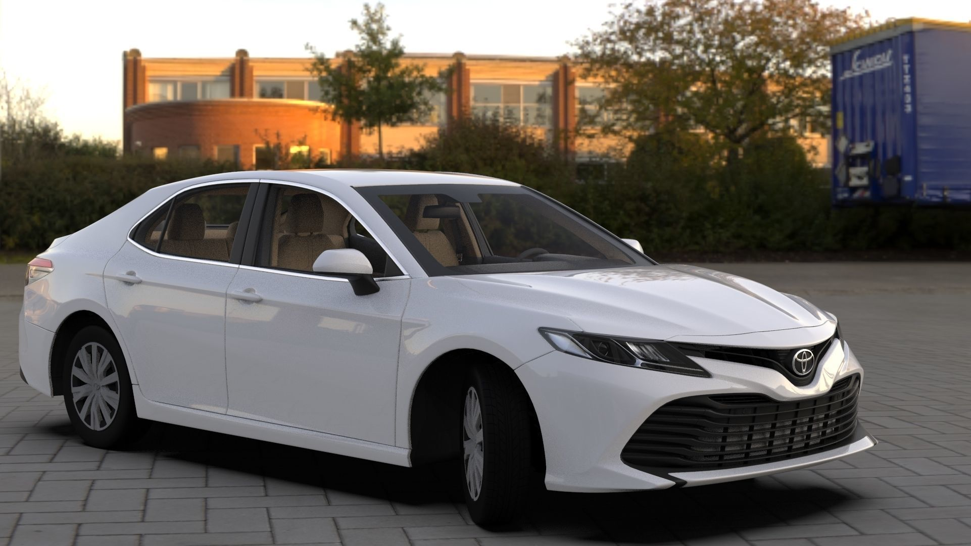 Toyota Camry LE 2019 HQ INTERIOR Bumpers Support