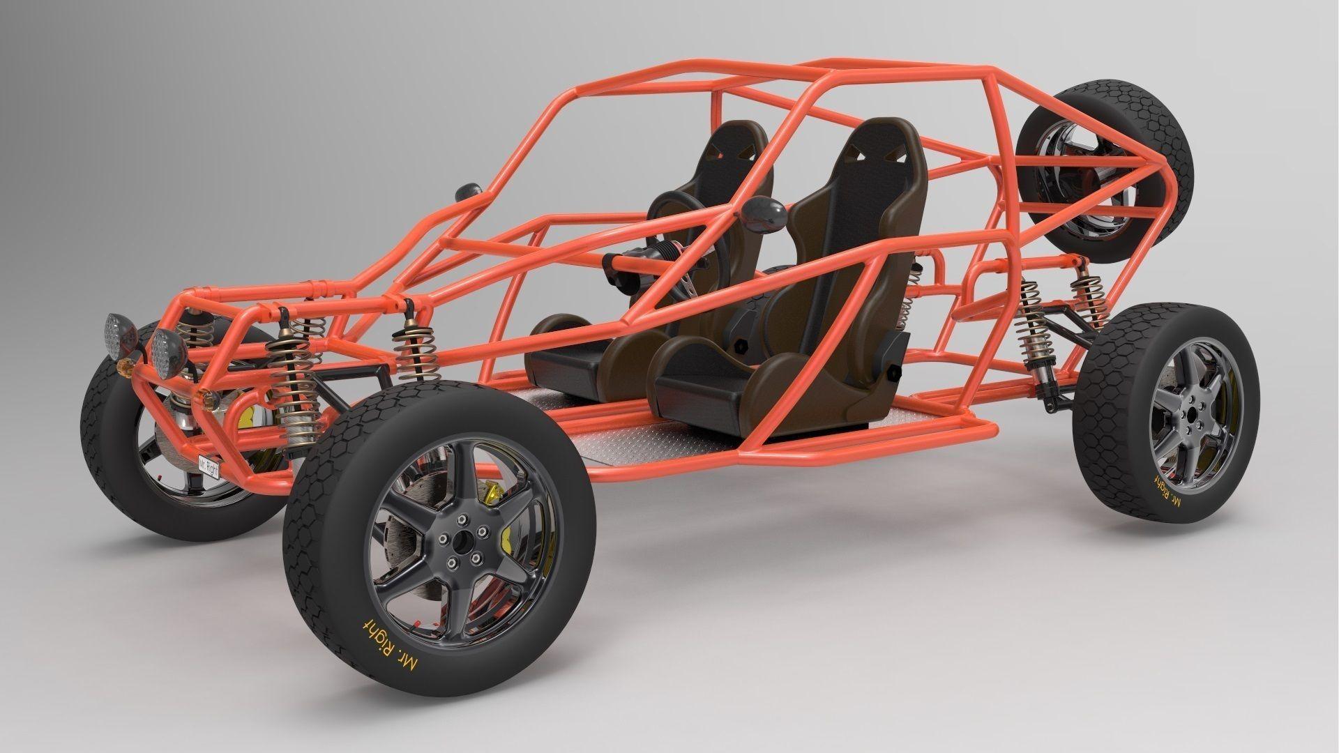 offroad buggy free 3d model. Black Bedroom Furniture Sets. Home Design Ideas