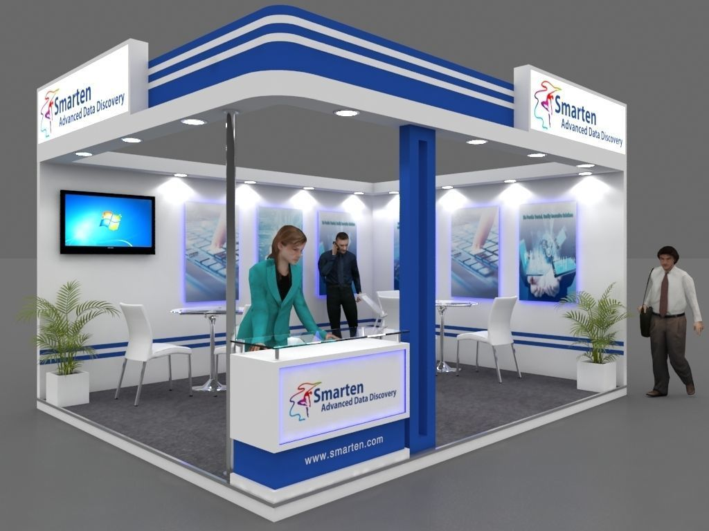 Exhibition Stall Reception : Exhibition stall d model mtr sides open smarten