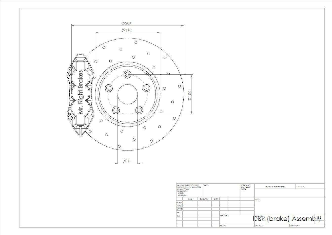 Disc Brake 3d Model Assembly Diagram Sldprt Sldasm Slddrw Pdf 2