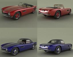 BMW 507 Roadster 3D Model