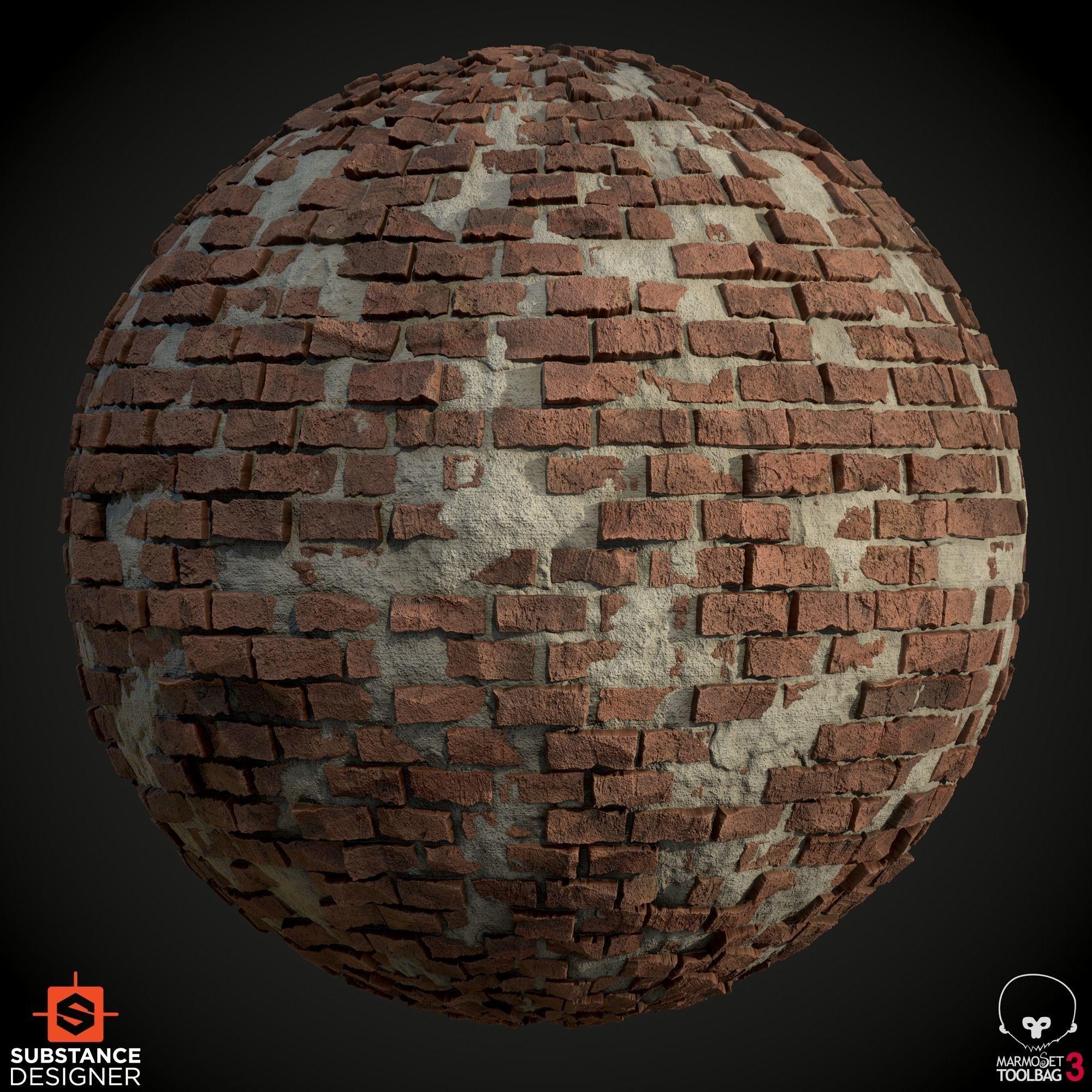 Old Brick Wall Texture Material
