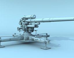 German FLAK 88 mm 3D