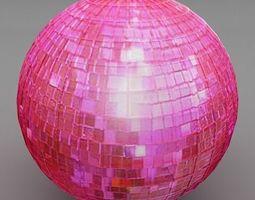 3D Pink Disco Ball