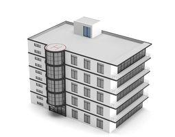 Low Poly Hospital Building 3D asset