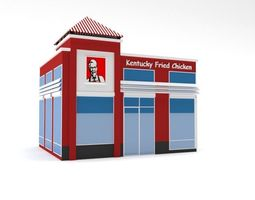 3D model Low Poly KFC Building