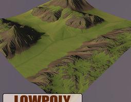 3d asset VR / AR ready level terrain 01