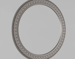 Frame for a mirror round shape 3D printable model