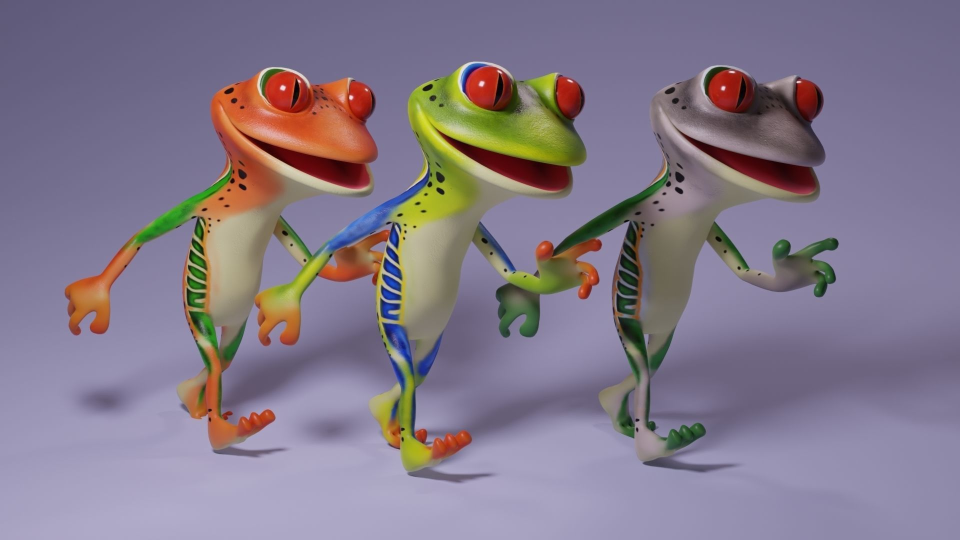 Toon Humanoid Frog