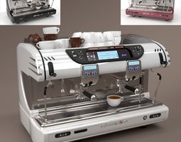 3D model La spaziale Coffee Machine 2 group Blender Cycles