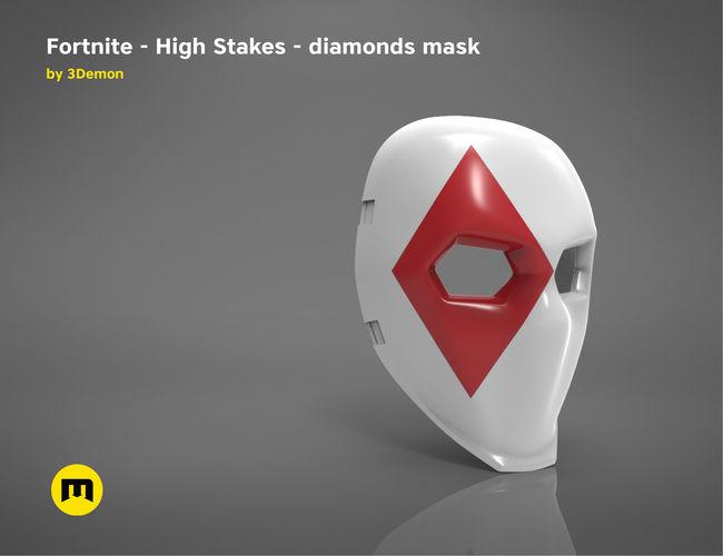 fortnite - high stakes - wild card diamonds mask 3d model stl 1