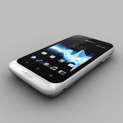 sony xperia tipo white 3d model max obj mtl 3ds dxf 1