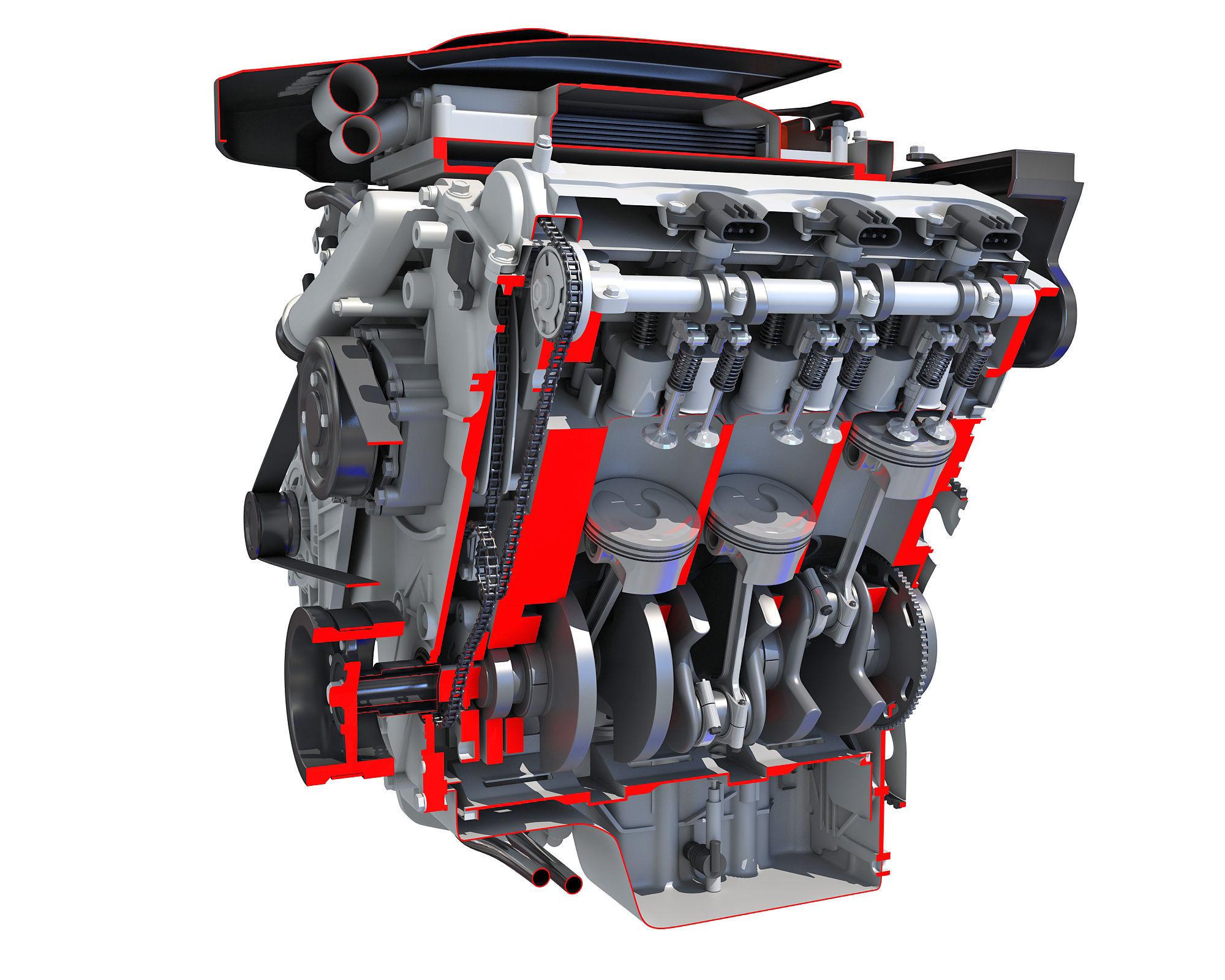 V6 Engine Cutaway