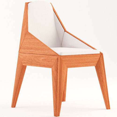 chair triarm - studio rika 3d model max obj mtl 3ds fbx 1