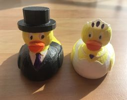 3D print model bridal pair - Duck