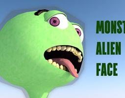3D model Monster Alien Face Statue